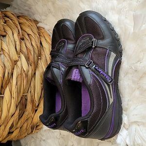 Skechers black and purple sneakers